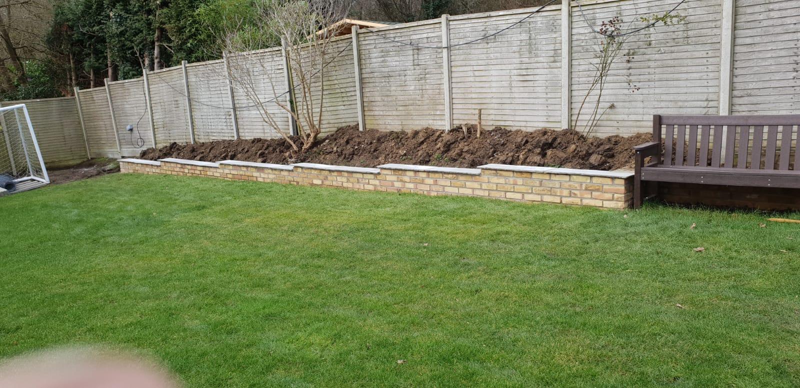 Retaining Wall Brickwork Kent