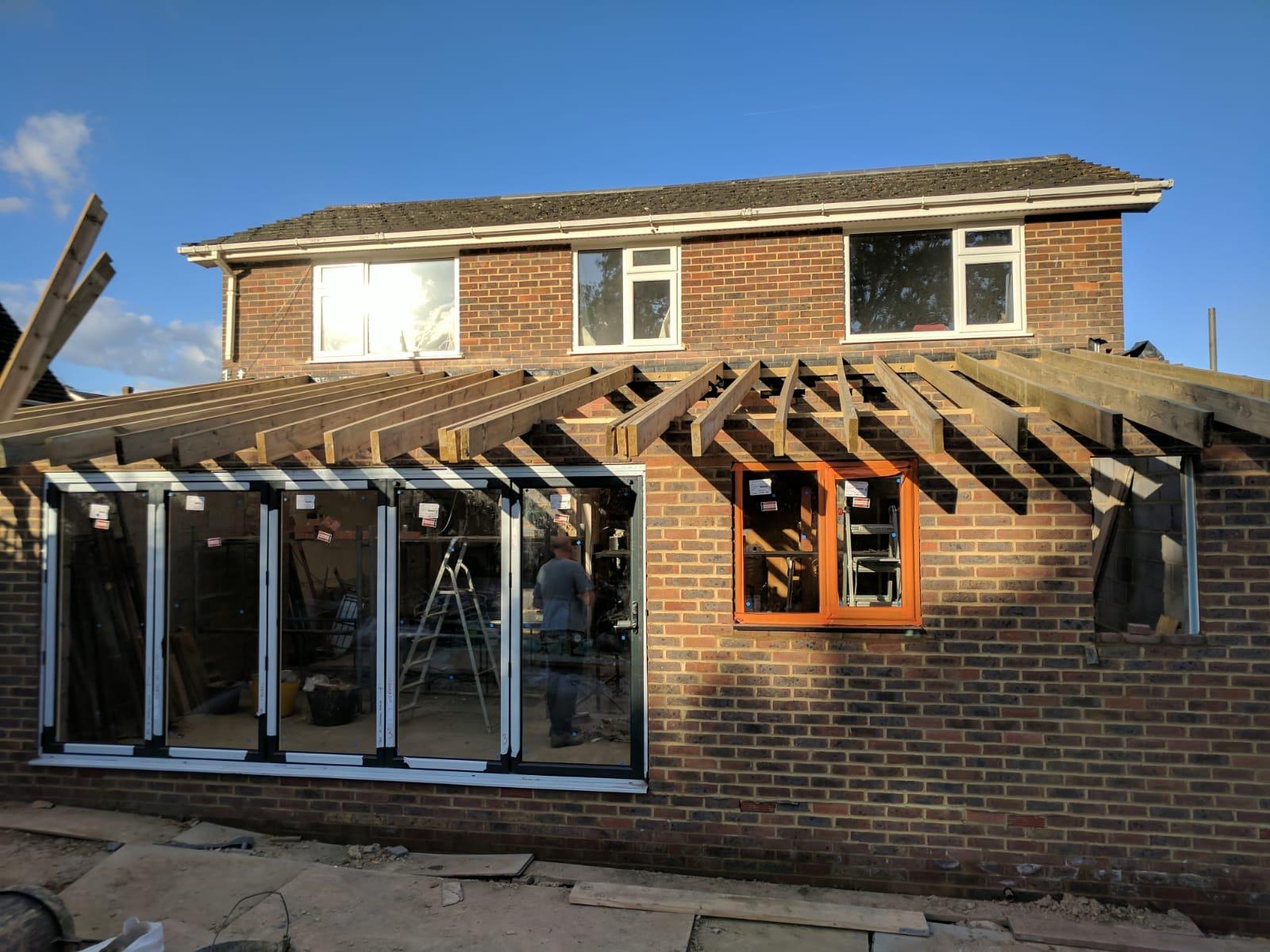 Single storey brick extension
